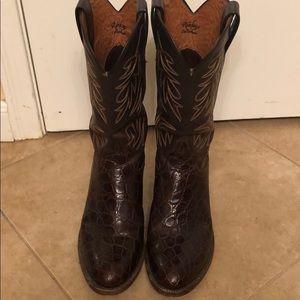 Gator cowboy boots. Sz 8 beautiful